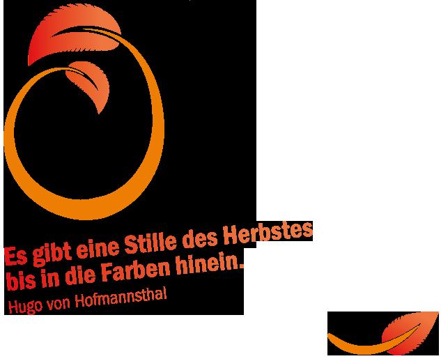 """Zitat: """"Es gibt eine Stille des Herbstes bis in die Farben hinein."""" Hugo von Hofmannsthal"""